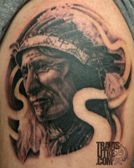 Travis Litke - Black Bear Lakota Indian Portrait