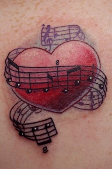Travis litke heart with music notes