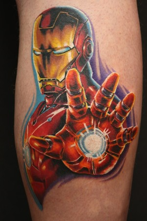 Travis Litke - color portrait ironman tattoo