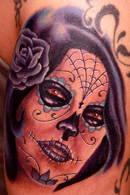 Travis Litke - Day of the Dead Girl in Purple