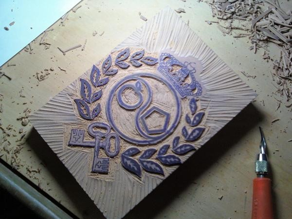 Travis Litke - linoleum block in progress