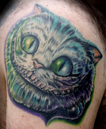 Travis Litke - color portrait of the cheshire cat from alice in wonderland the movie