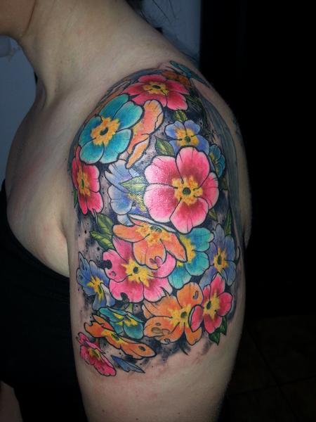 Tattoos - flower cluster - 98691