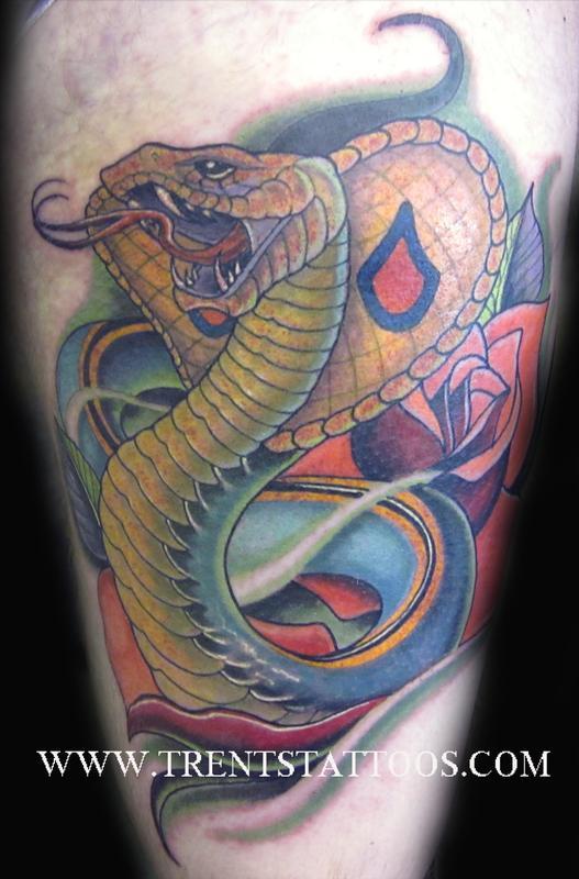 cobra tattoo by trent edwards tattoonow