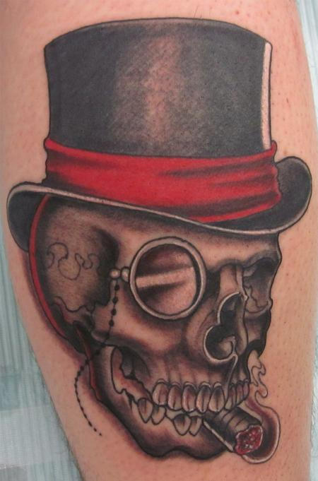 Trent Edwards - skull and hat