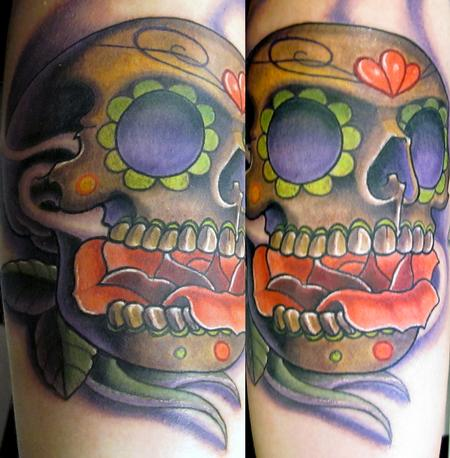 Trent Edwards - day of the dead skull