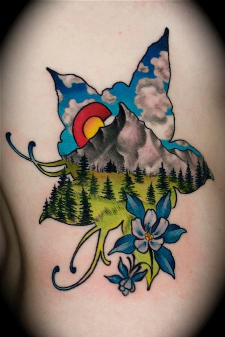 Tattoos - mountain landscape