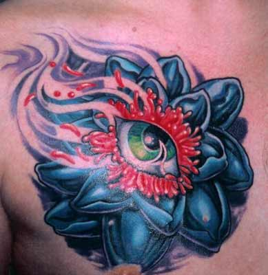 Tattoos - Mike Cole - Lotus Eye