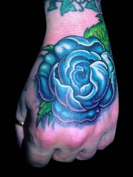 Tattoos - Mike Cole - Blue Rose