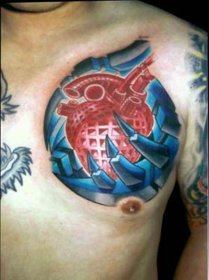 Tattoos - Geometric Heart - 14468