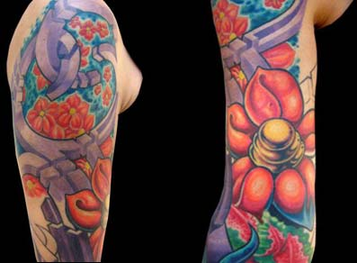 Mike Cole - Geometric Shapes and Flowers Sleeve