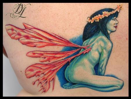 Dave Lukeson - Fairy Tattoo