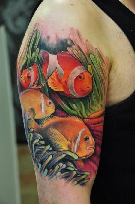 fish and coral tattoo Tattoo Design