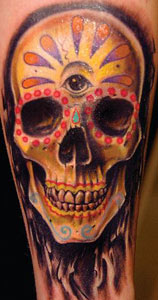 sugar skull tattoo designs on ... Tattoo Gathering : Tattoos : Bez : Realistic Sugar Skull Tattoo