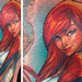 Mary Jane Watson from Spiderman comic Tattoo Design Thumbnail