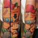 A character by Cheo Tattoo Design Thumbnail