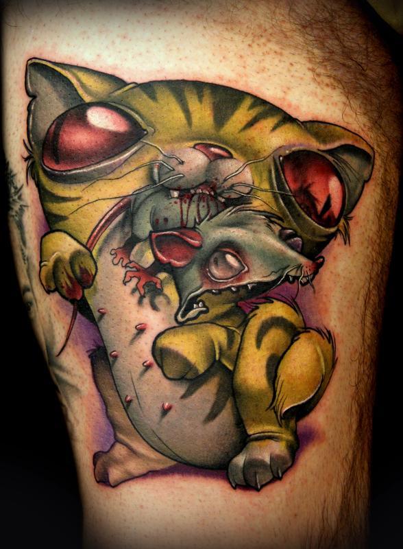 Cat Nipples Tattoo By Kelly Doty TattooNOW