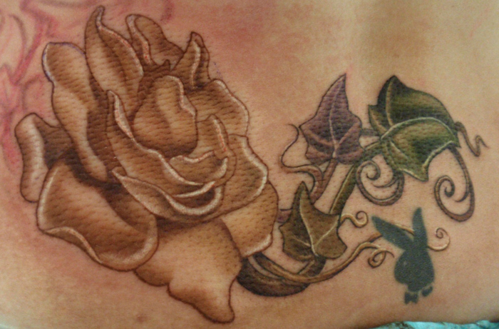 gardenia and ivy tattoo in progress by kelly doty tattoonow. Black Bedroom Furniture Sets. Home Design Ideas