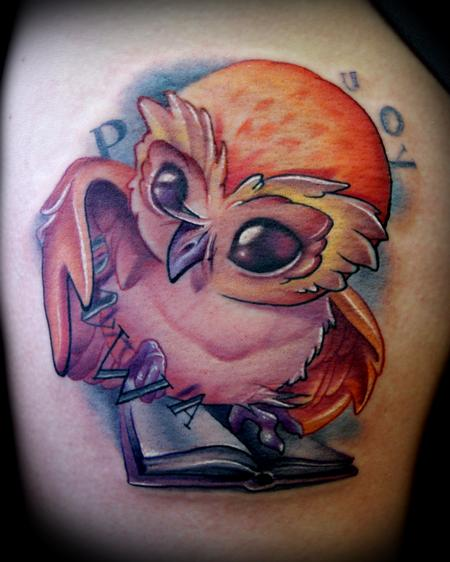 Book Owl tattoo Tattoo Design Thumbnail