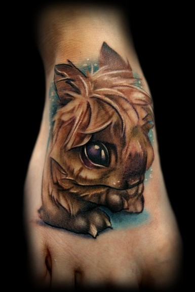 Kelly Doty Fuzzy Bunny tattoo Large Image Leave Comment