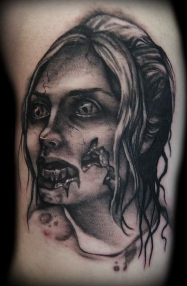 zombie tattoo. Lady Zombie tattoo