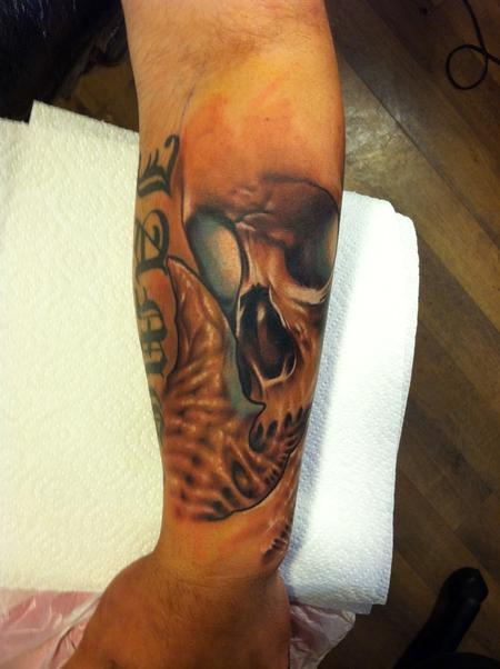 Tattoos - skull bio organic tattoo - 67748