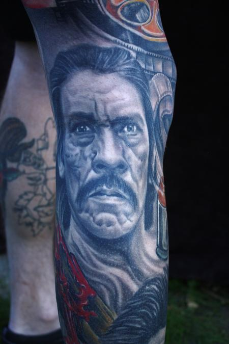 Ty McEwen - Black and grey portrait tattoo