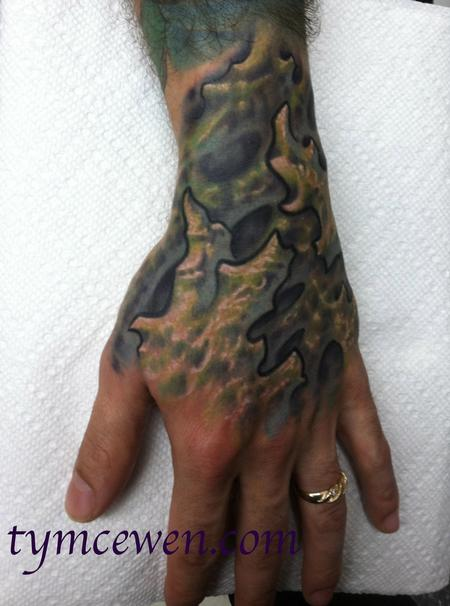 Tattoos - coral biomech hand - 74089