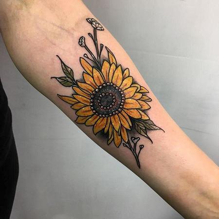 Tattoos - sunflower tattoo - 133089