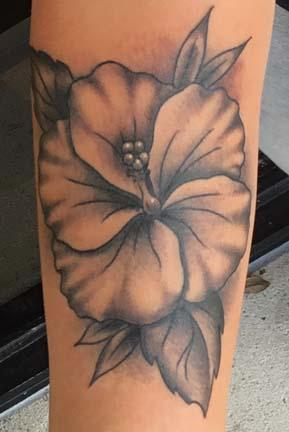 Tattoos - Hibiscus - 129347