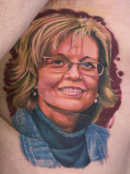 Tattoos - Memorial Portrait Tattoo - 129395