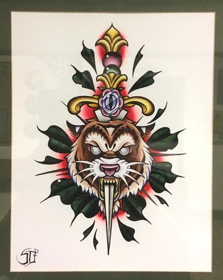 Tattoos - Stabby Tiger - 129461