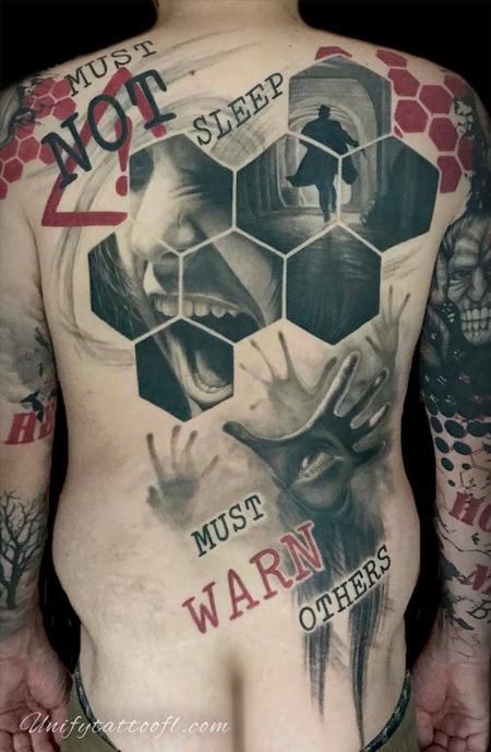 Tattoos - Trash Polka Back Piece - 129372