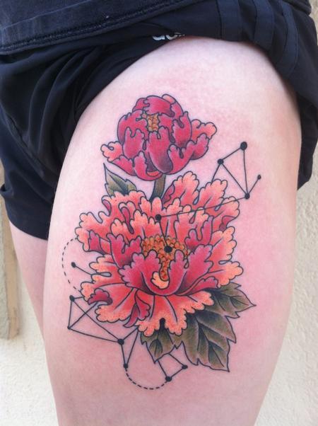Tattoos - peonies - 117048