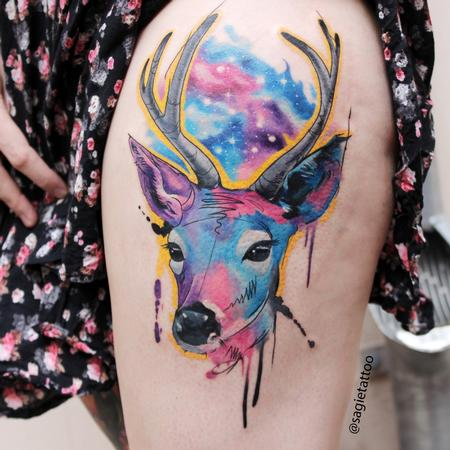 Water color deer Design Thumbnail