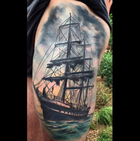 Ship Tattoo Design Thumbnail