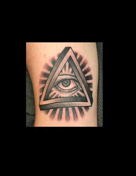 Tattoos - Triangle Eye - 128859
