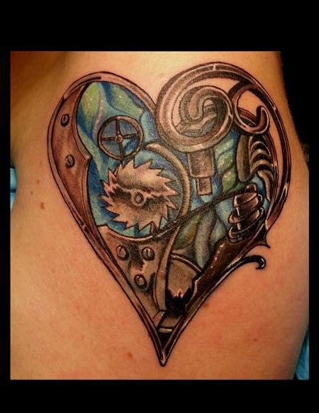 Tattoos - Steampunk Heart - 129405