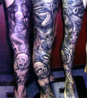 Tattoos - Dark Leg - 9545