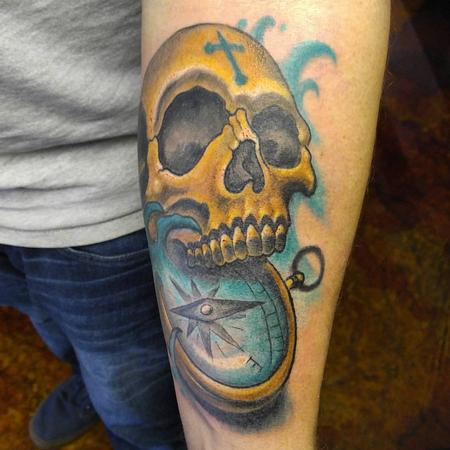 Tattoos - Compass skull - 126583