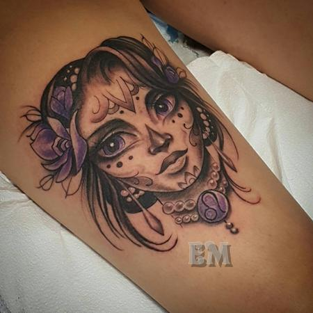 Purple lady Tattoo Thumbnail
