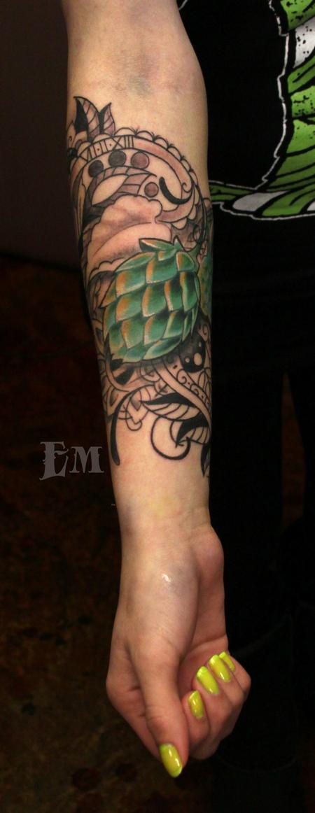 Tattoos - Hops and paisley - 99470