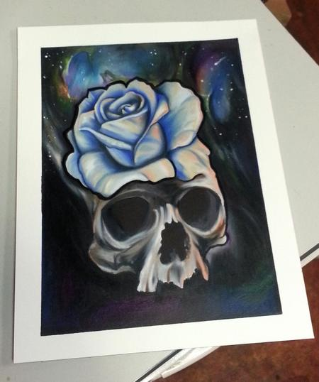 Tattoos - Skull rose prisma color on arches - 93527