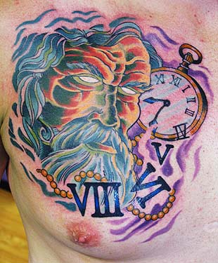 Father time by canman tattoonow