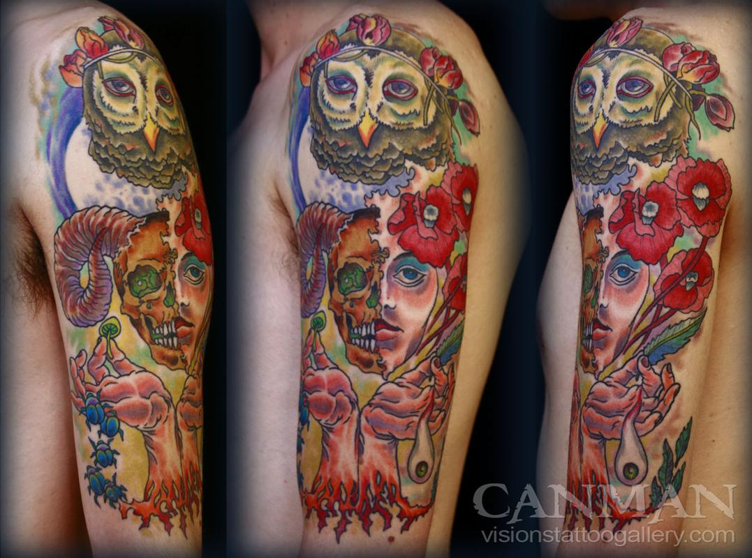 collage tattoo by canman tattoonow