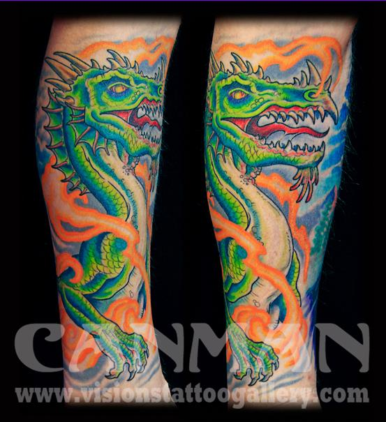 Medieval dragon by canman by canman tattoonow for Medieval dragon tattoo