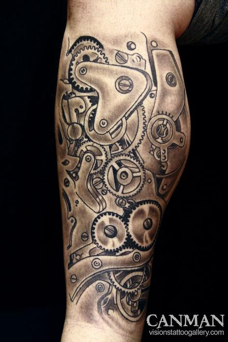 watch gears by canman tattoos