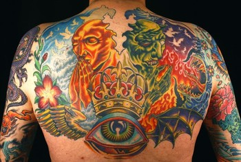 Canman - good and evil backpiece