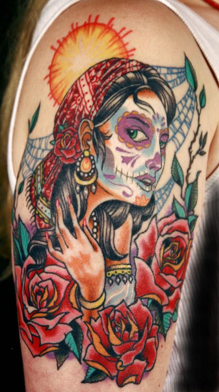 Tattoos - Day of the dead woman - 54789