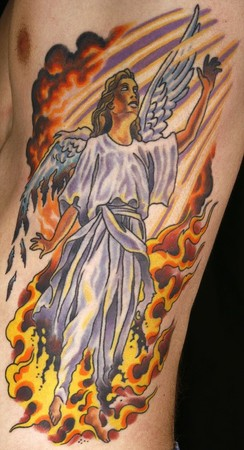 Canman - Fallen Angel Color tattoo